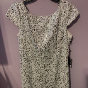 Silver short formal dress from Macy's size 12 new